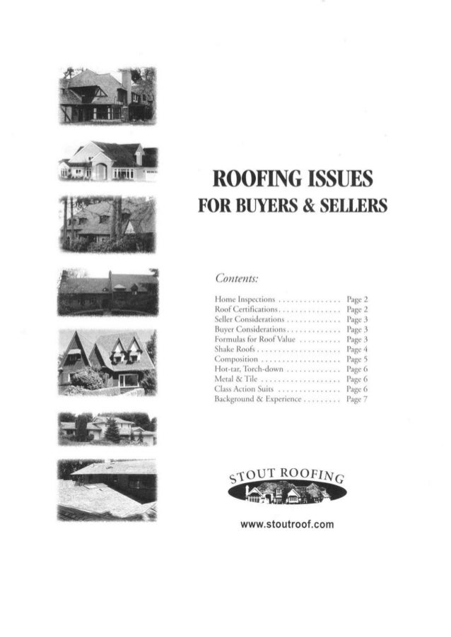 Roofing issues for buyer and sellers