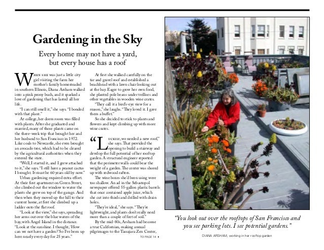 Gardening in the Sky               Every home may not have a yard,                  but every house has a roofW           ...