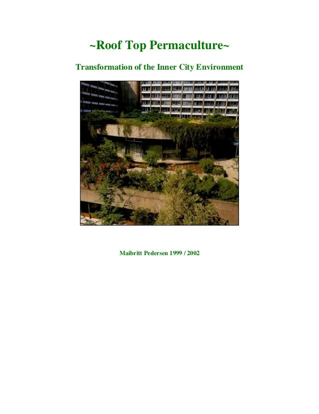 ~Roof Top Permaculture~Transformation of the Inner City Environment           Maibritt Pedersen 1999 / 2002