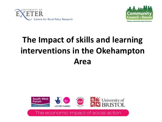 The Impact of skills and learning interventions in the Okehampton Area
