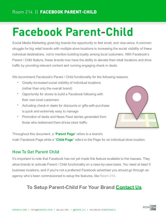 Room 214 || FACEBOOK PARENT-CHILDFacebook Parent-ChildSocial Media Marketing gives big brands the opportunity to feel smal...