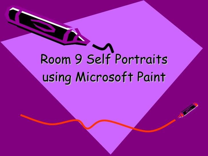 Room 9 Self Portraits using Microsoft Paint