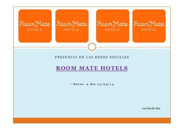 Presencia en las Redes Sociales - Room Mate Hotels