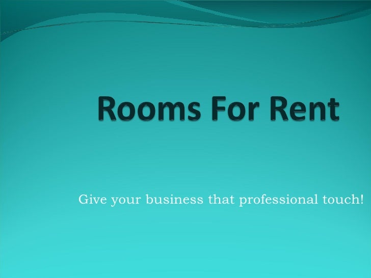 Give your business that professional touch!