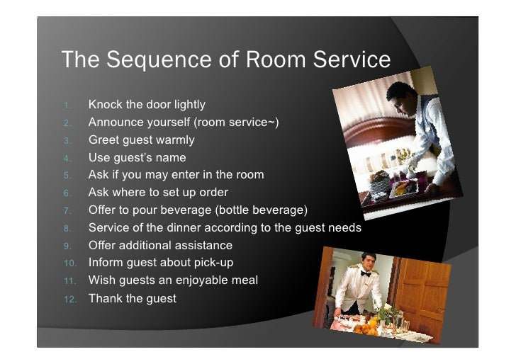 Room Service Tray Pick Up Cards