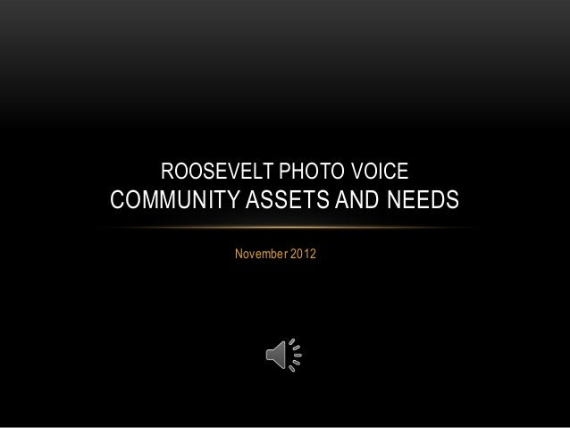 ROOSEVELT PHOTO VOICECOMMUNITY ASSETS AND NEEDS         November 2012