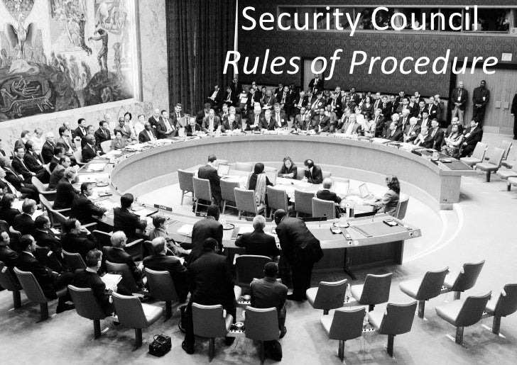 Security Council Rules of Procedure