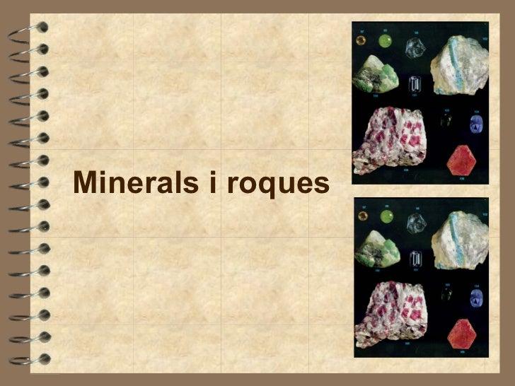 Roques i minerals