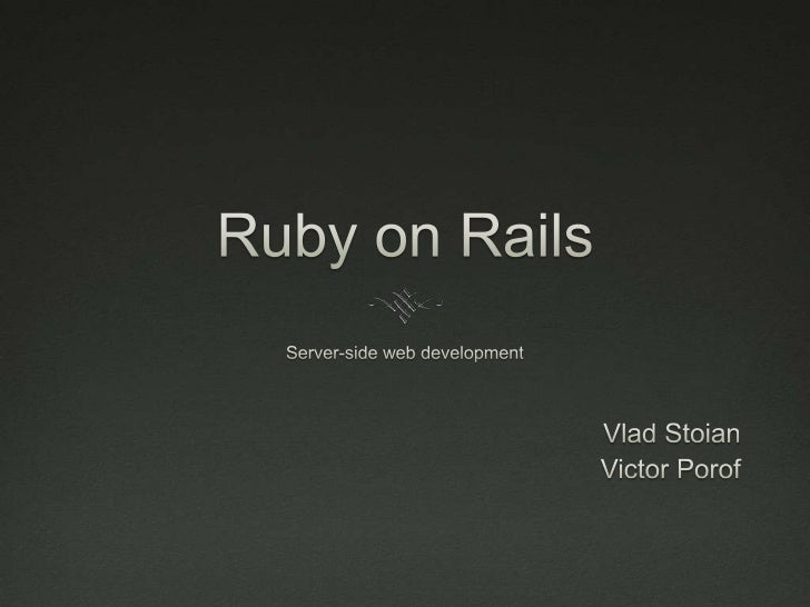 Beginners' guide to Ruby on Rails