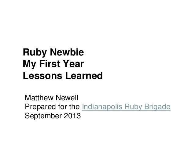Ruby Newbie
