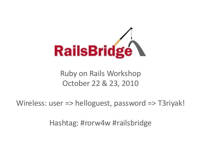 Ruby on Rails: Outreach for Women, SF