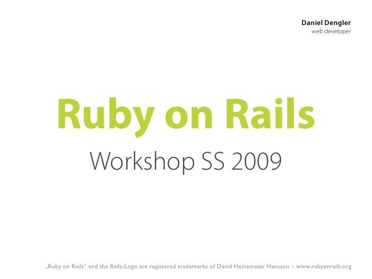 Ruby on Rails SS09 04