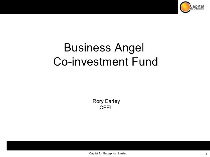 Business Angel  Co-investment Fund Rory Earley CFEL