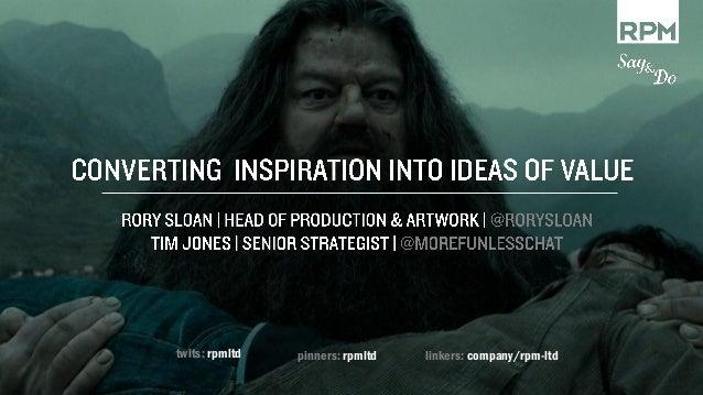 No such thing as an original idea?