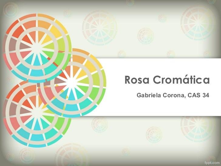 Rosa Cromática  Gabriela Corona, CAS 34
