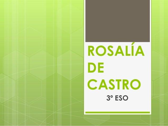 ROSALÍA DE CASTRO 3º ESO