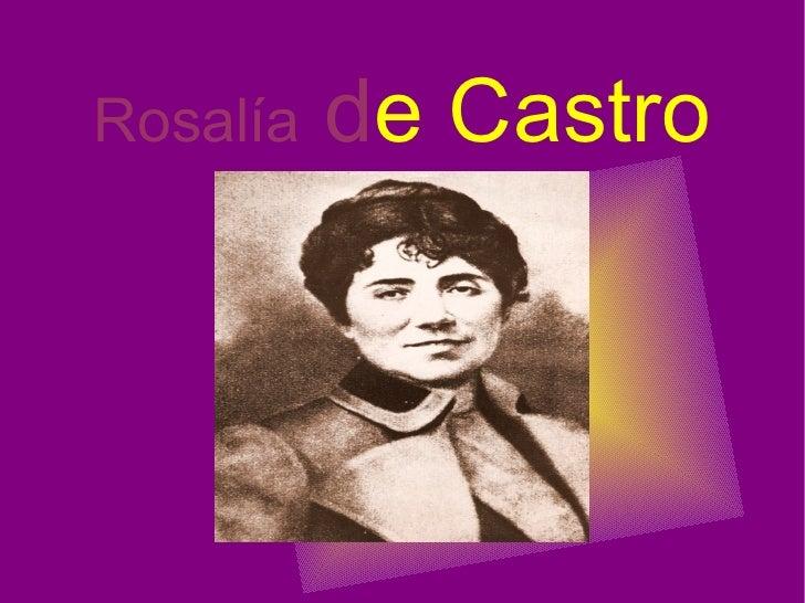 Rosalía  d e Castro