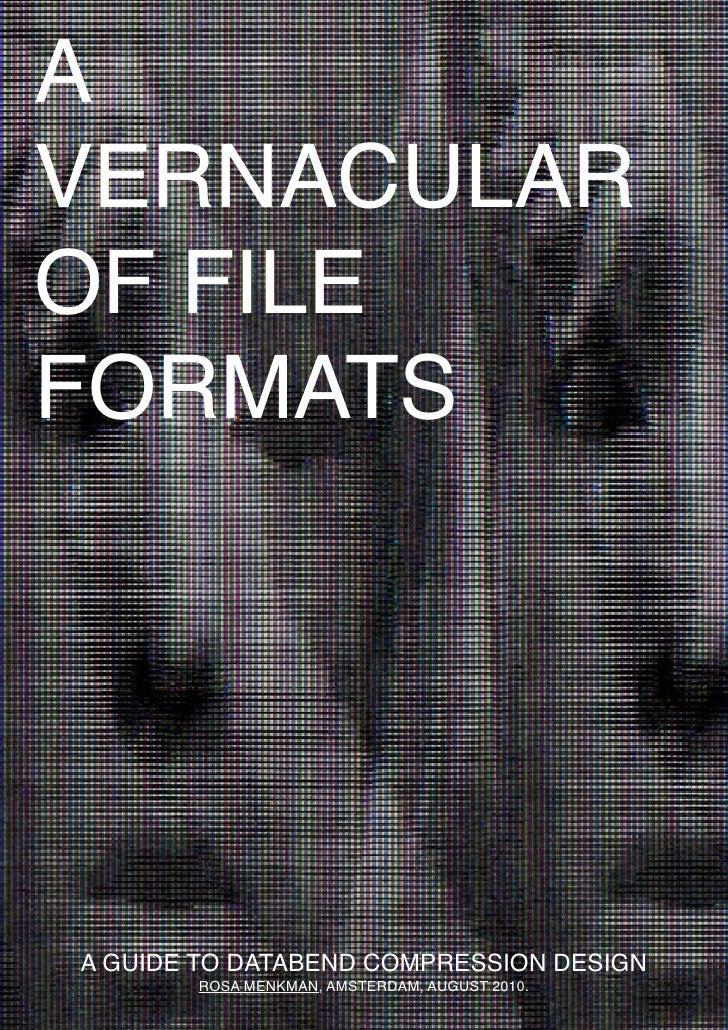 Rosa Menkman - A Vernacular of File Formats