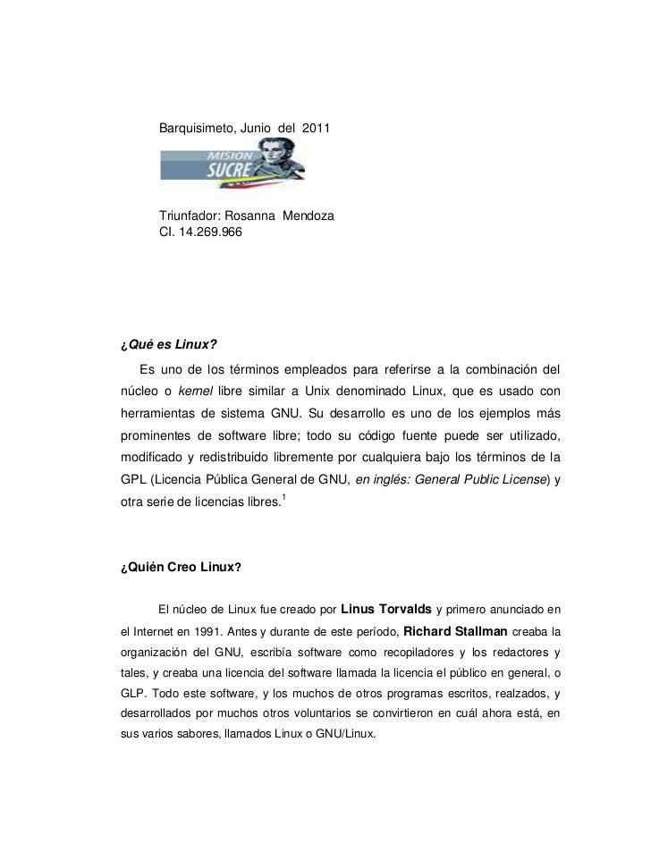 Barquisimeto, Junio  del  2011                                                                                  <br /> <br...