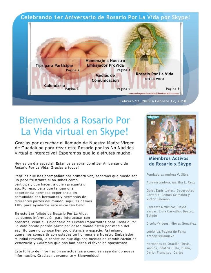 Celebrando 1er Aniversario de Rosario Por La Vida por Skype!                                             Homenaje a Nuestr...