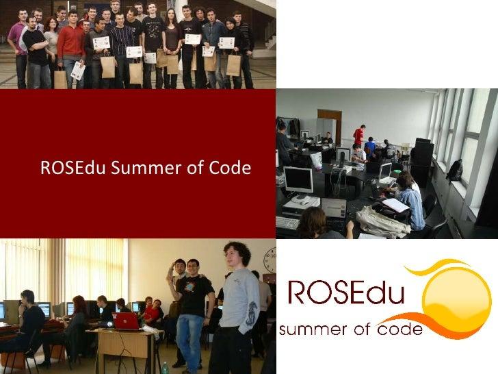 ROSEdu Summer of Code<br />