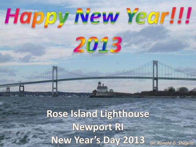 Rose Island Lighthouse Photo Album -- New Year's Day 2013