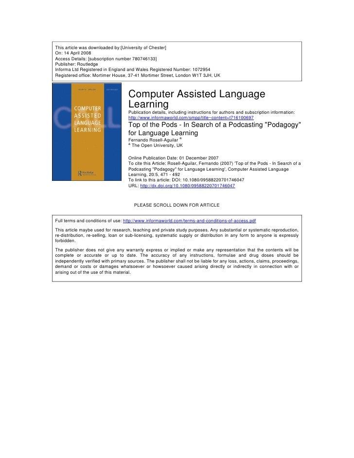 Rosell agular languages