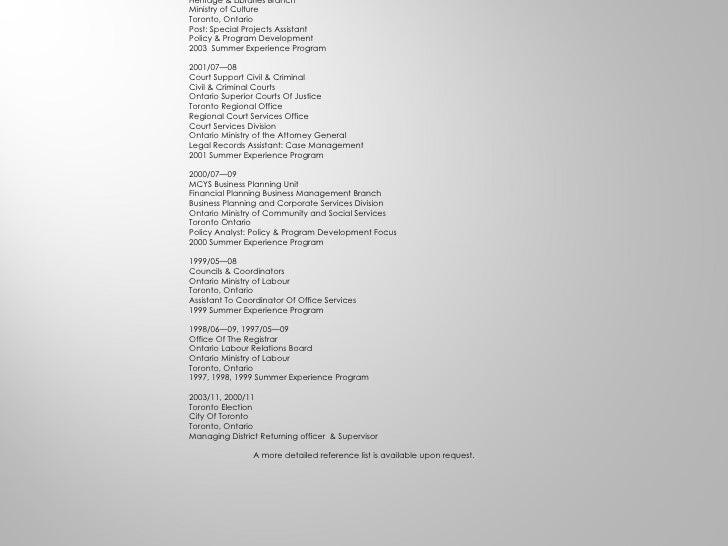 -1- Curriculum vitae  Rosemary N. DeCaires (Nobrega) Contact Information Toronto Ontario Canada 416 534 5483 fax 416 801 1...