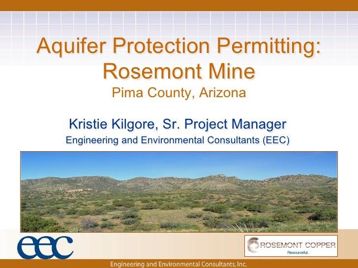 Aquifer Protection Permitting:  Rosemont Mine