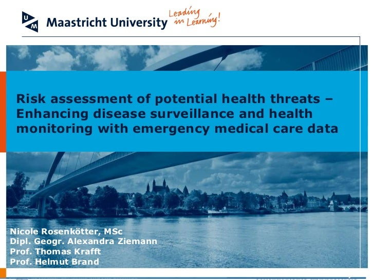 Risk assessment of potential health threats – Enhancing disease surveillance and health monitoring with emergency medical care data
