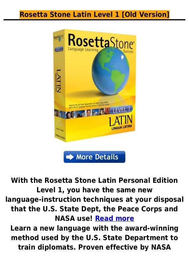 Rosetta stone latin level 1 [old version]