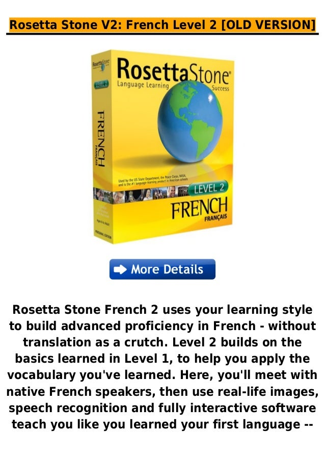 Rosetta stone v2  french level 2 [old version]