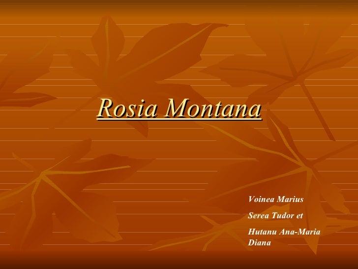 Rosia Montana Voinea Marius  Serea Tudor et Hutanu Ana-Maria Diana