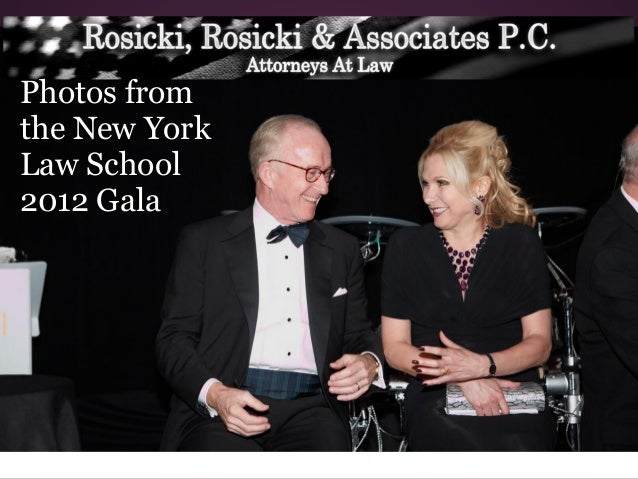 Honored Guests of NY Law School's Gala 2012