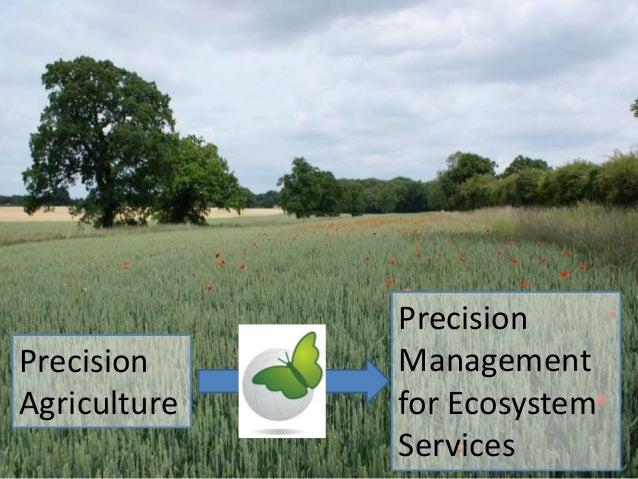 Precision Agriculture  Precision Management for Ecosystem Services