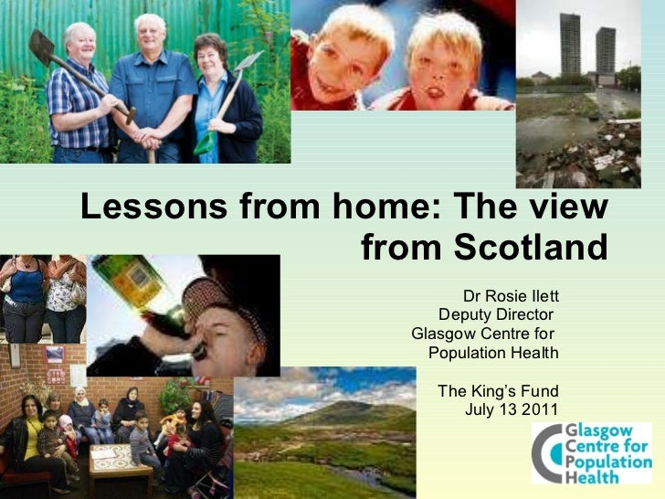Rosie Ilett: Public health lessons from home: The view from Scotland