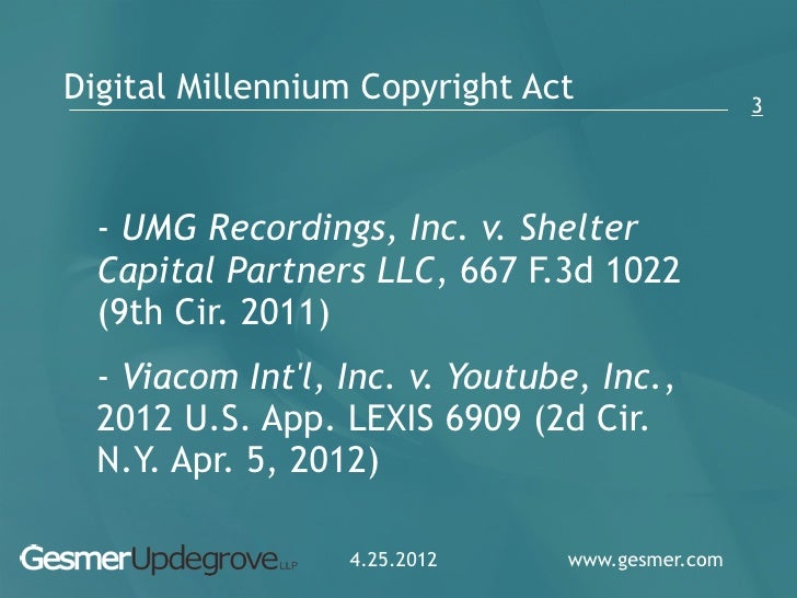 the case of umg recordings inc versus mp3com inc On september 6, 2000, judge rakoff, in umg recordings v mp3com, awarded  the plaintiffs $25,000 in statutory damages per cd uploaded on the  statutory  damages are meant to send a message and to sting or make it hurt  wild oats , inc, a case involving the reproduction of unauthorized works by photographer.