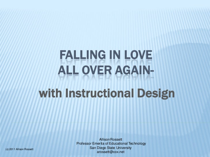 FALLING IN LOVE                              ALL OVER AGAIN-                           with Instructional Design          ...