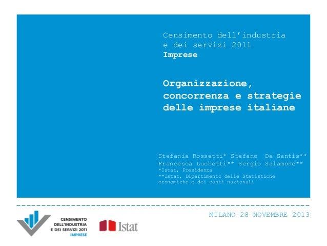 S. Rossetti, S. De Santis, F. Luchetti, S. Salamone - Organizzazione, concorrenza e strategie delle imprese italiane