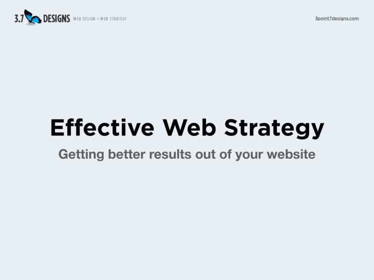 Web Strategy Keynote Oct 7, 2009