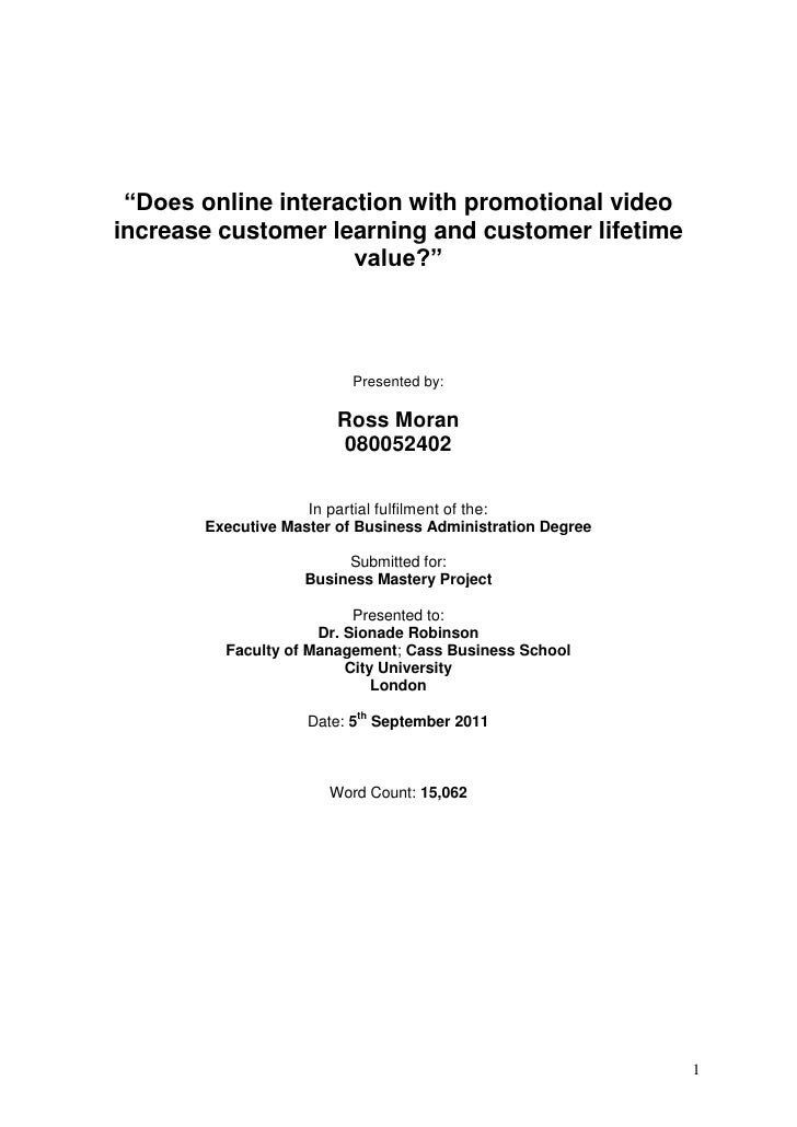Does online interaction with promotional video increase customer learning and lifetime value?