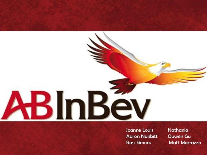 AB-Inbev -- Problem identification and solution