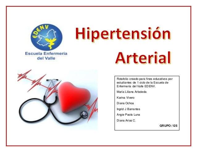 Rotafolio creado para fines educativos por estudiantes de 1 ciclo de la Escuela de Enfermería del Valle EDENV. María Lilia...