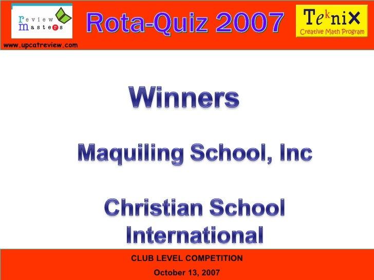Rota Quiz Lb Slide