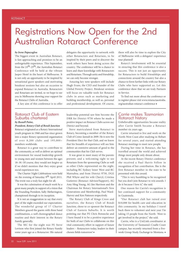 Rotaract News - June 2011 RDU