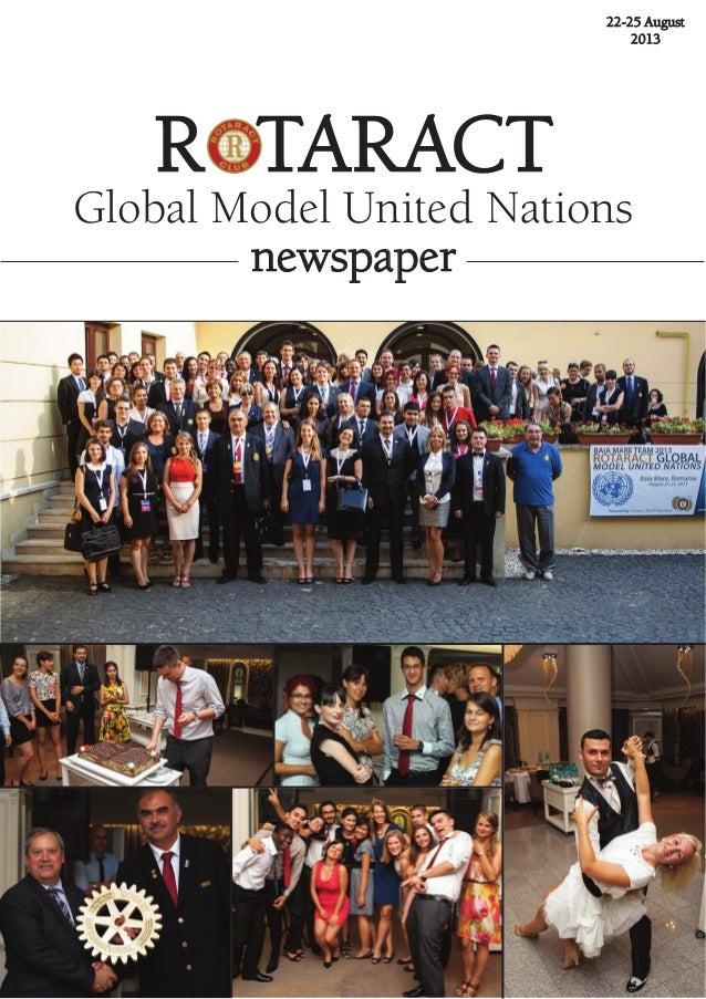 22-25 august 2013 R taRact Global Model United Nations newspaper