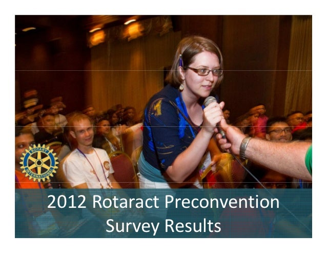 Rotaract Preconvention 2012 Survey Results