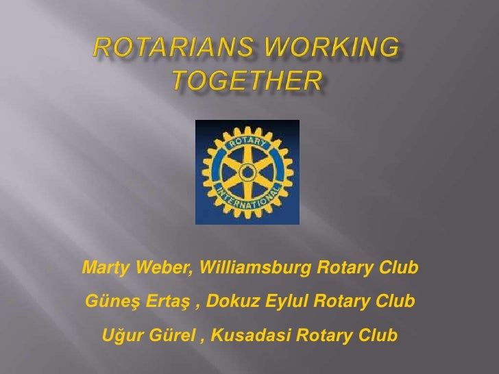 Rotarians working together
