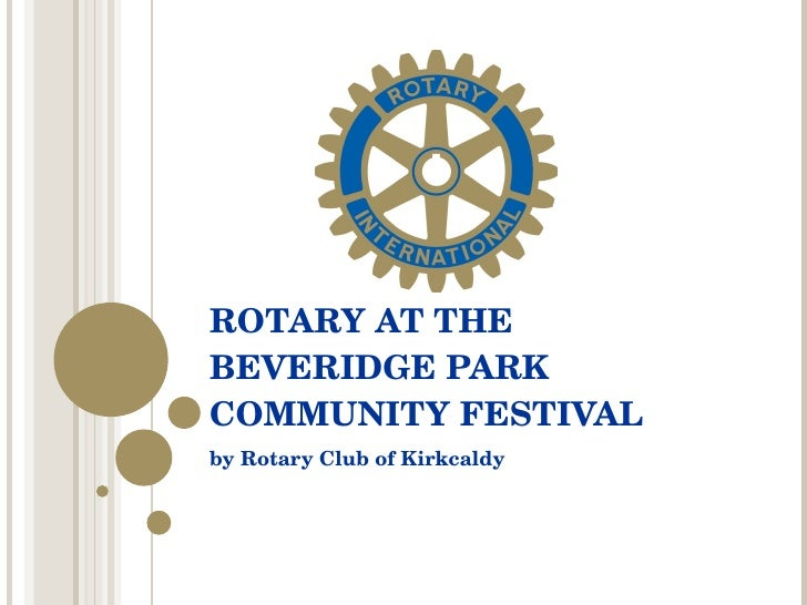 Rotary at The Beveridge Park Community Festival