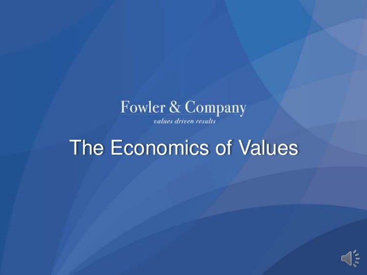 The Economics of Values